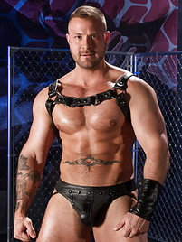 Gay male leather sex
